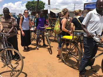 Malawi Citizens with Bikes