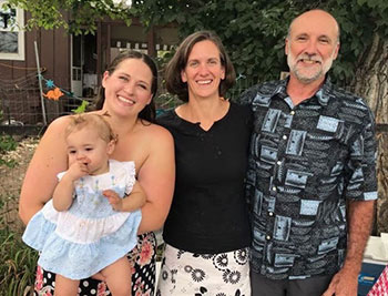 Amy Quinn and her daughter, Ana Williams and Amy's Husband