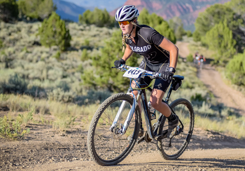 Clare Baker - Biking in Colorado