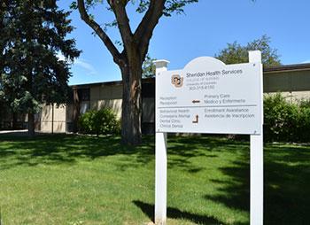 Sheridan Health Services external sign
