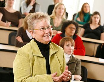 Vicki Erickson teaching